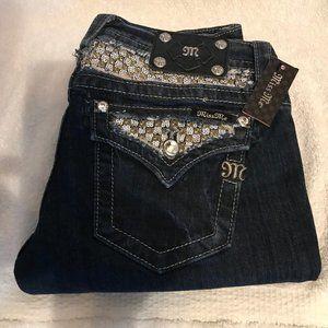 Dark Blue Rinse Signature Boot Cut Jeans